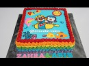 How to Make Birthday Cake Pororo - Cara Membuat Kue Ulang Tahun Pororo