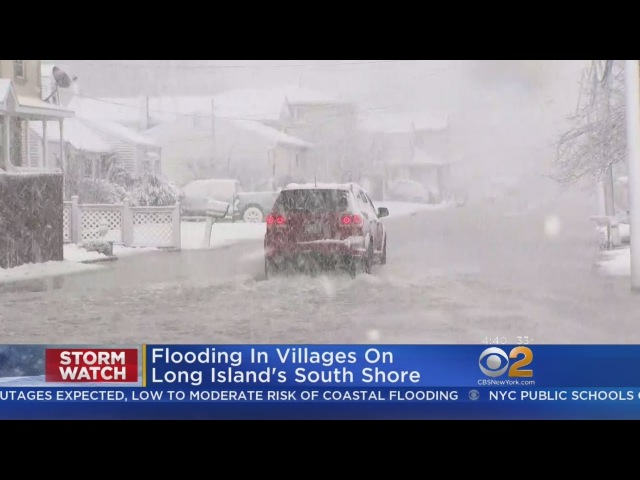 Nor'easter Prompts Flooding On Long Island's South Shore