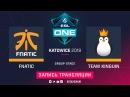 Fnatic vs Kinguin, ESL One Katowice, game 1 Adekvat, V1lat
