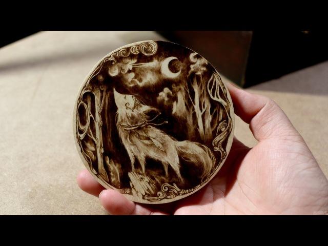 Kim Sulrok (Snowdeer) Woodburning Art - Pyrography 13/10/29