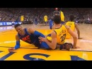 Russell Westbrook Almost Injured by Zaza Pachulia's Flop! Thunder vs Warriors February 24, 2018