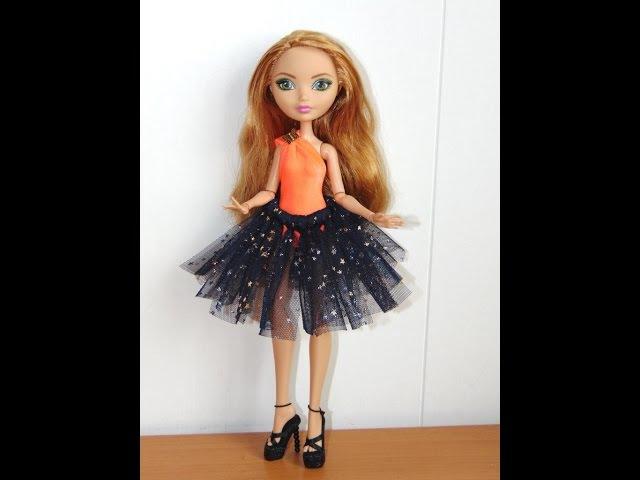 Как сделать юбку пачку для куклы без иголок и ниток