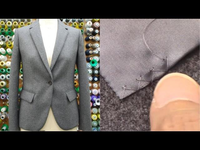 ジャケットの作り方・縫い方 Part7 「星止め・まつり縫い・千鳥がけ・釦