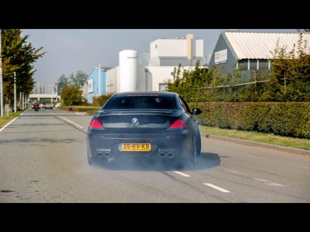 LOUD BMW M6 w Eisenmann Exhaust Insane Drifts Accelerations Revs