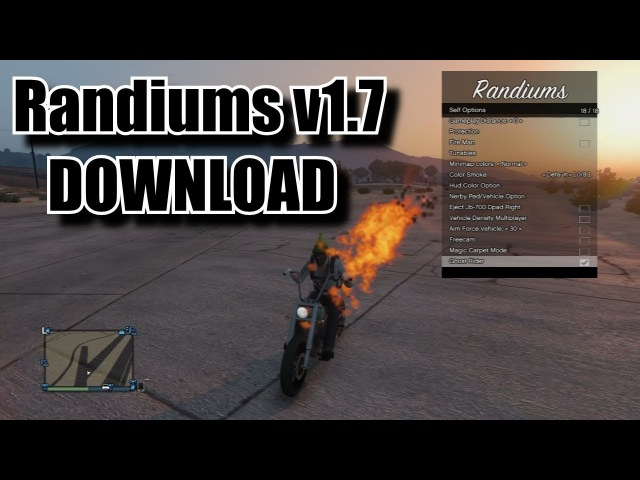 [PS3] GTA 5 Randiums v1.7 Mod Menu 1.27/1.28 [DOWNLOAD]