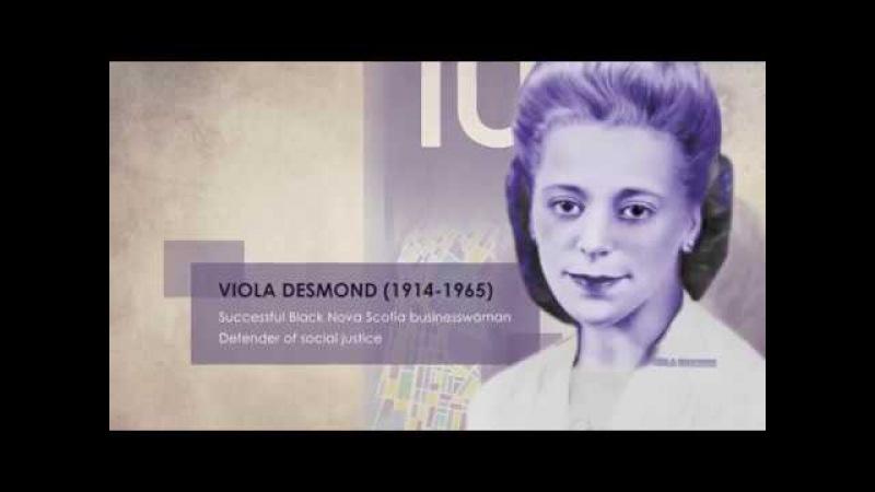New Canada's polymer $10 note (Viola Desmond) 2018