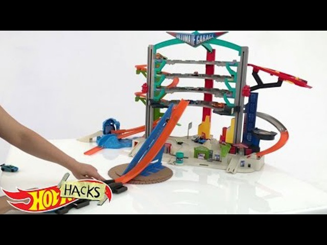 Видео для детей про МАШИНКИ ХотВилс с воздушной парковкой! Лайфхак от HotWheels