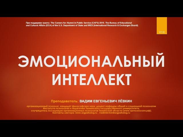 Вадим Лёвкин - Эмоциональный интеллект