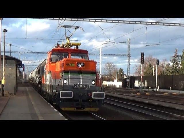 Vlaky Hrušovany u Brna 13.3.2018