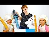 МАЙНКРАФТ игрушки! Света и Адриан готовят мини-пиццы для Маши! Видео для детей!
