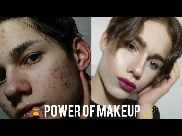Яркий макияж для проблемной кожи Glam transformation Power of Makeup