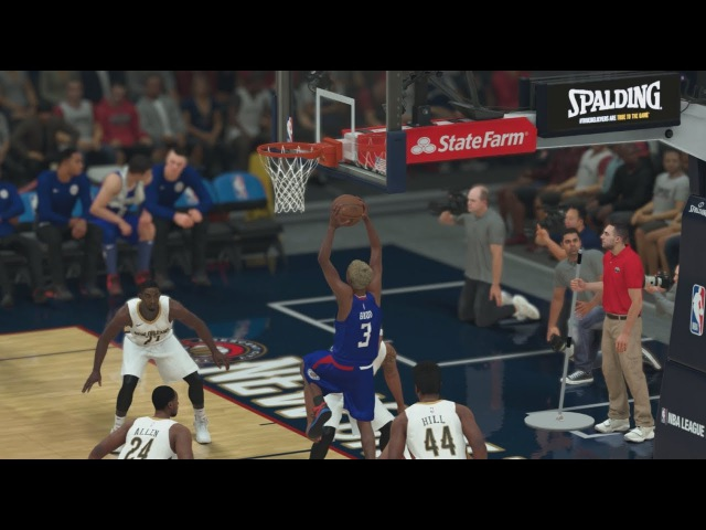 NBA 2K18 My Career 19 Clippers vs Pelicans. First alley-oop assist