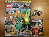Обзор нового журнала Lego Jurassic World #1 за 2018 год Малыш Раптор и Гнездо