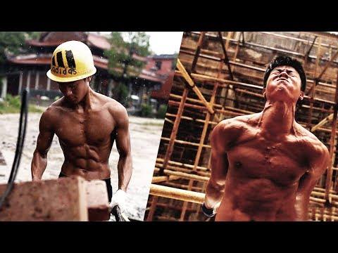 МОНСТР КАЛИСТЕНИКИ из Китая КИТАЙСКИЙ строитель Shi Shenwei Воркаут мотивация