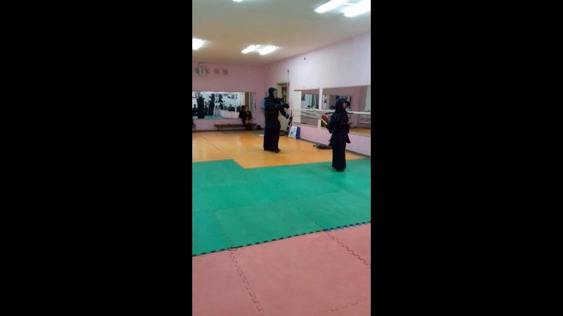 Отец с сыном))мои самураи