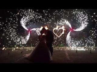 Свадьба в Авроре - Ангелина и Алексей - 25.05.18, огненные сердца и вертушки