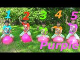 Learn T'shirt Colors wFive Little Babies Jumping On The Bad &amp Learn Colors Education Compilations