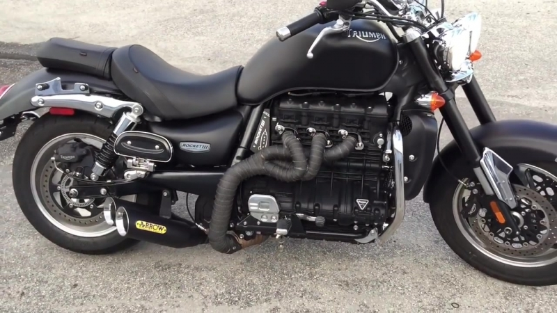 TRIUMPH ROCKET III , NEW UNIQUE EXHAUST SOUND CHECK ! Made By Kopi!