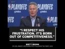 "Brett Brown ""I respect his frustration""."