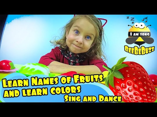 Learn Names of Fruits and learn colors | Funny educational video song for Kids