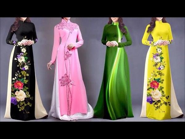Unique Collection of Long kurti Collection    Beautiful Vietnamese dress    Latest Stylish Design