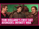 Tom Holland's first day on Avengers: Infinity War - FIRST LOOK