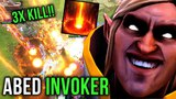 Abed Invoker Sunstrike and Cataclysm GOD 3x Kill INSANE Play - Dota 2
