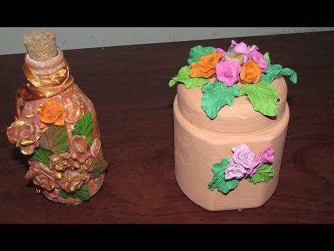 Artesanato: Reciclando potes de creme