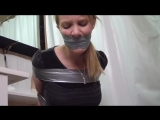 Amber Taped in the Bathroom