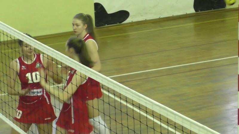 Уралочка НТМК - Сахалин волейбол молодежная лига женщины ( лучшие моменты )