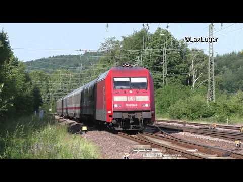 DB 101 028-9 mit einem IC nach Stuttgart in St.Ingbert