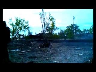 Боев батальона Донбасс обстреливает попочленцев из СПГ (АТО, ВСУ, ЗСУ, НГУ) (1)
