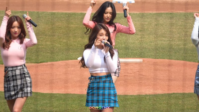 180324 2018 KBO리그 기아타이거즈 개막전 축하공연_ Mr.chu 은지 직캠 by DOROTHY