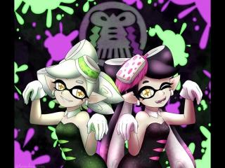 Splatoon Splatfest Squid Sisters Performing