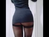 Black PANTYHOSE [колготки дувушка показывает попу трусики чулки 2017 не порно sissy tg trans русское домашнее ass ножки фетиш