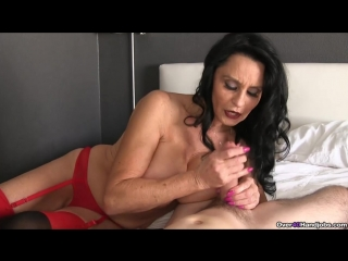 Rita Daniels - milf mature handjob cum cumshot boobs busty underwear red милфа мастурбирует дрочит член