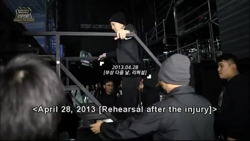 Behind The Scenes GD injured his ankle during OOAK WT in Japan