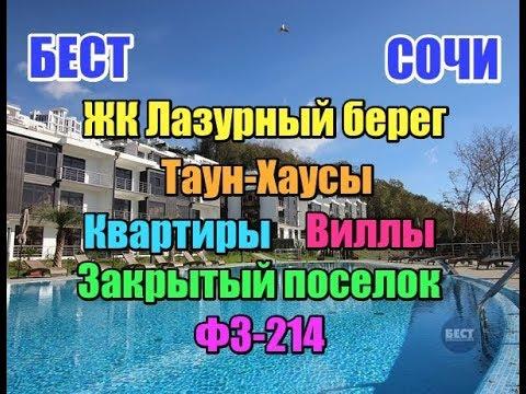Недвижимость Сочи ЖК Лазурный берег - ФЗ-214, закрытый поселок