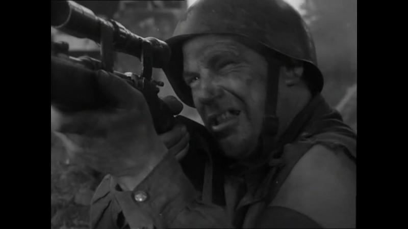 Четыре танкиста и собака (1966). 4 серия. Отражение советской пехотой и танкистами атаки немцев в г. Джев