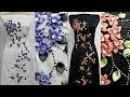 SATIN RIBBON work floral design salwar kameez materials new arrivals