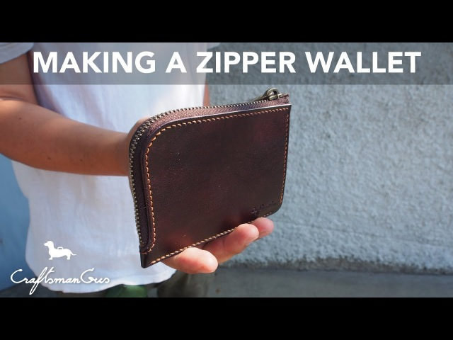 Making Leather Wallet Simple Zipper Wallet LeatherAddict EP19