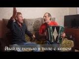 ВЫЙДУ НОЧЬЮ В ПОЛЕ С КОНЁМ Популярные застольные песни под ГАРМОНЬ