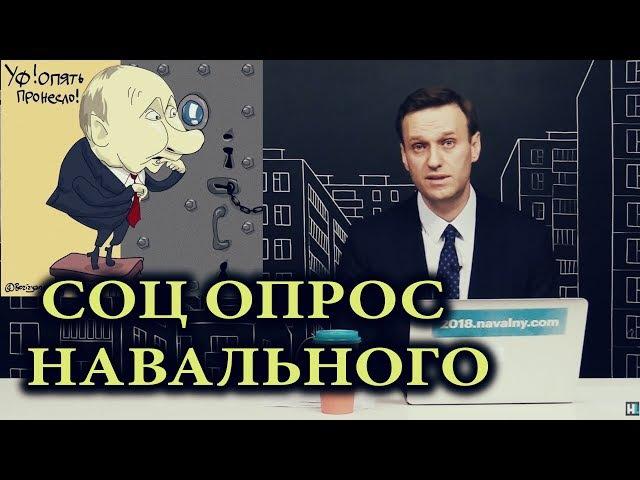ЧЕСТНЫЙ СОЦ ОПРОС НАВАЛЬНОГО РЕЙТИНГ КАНДИДАТОВ