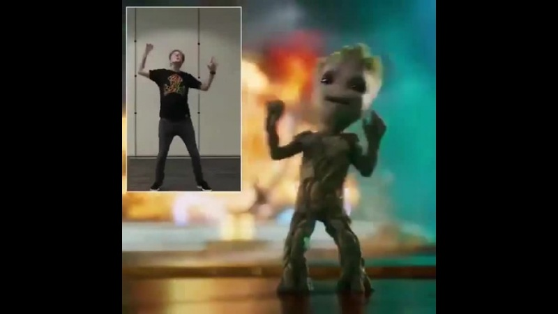 James Gunn Motion Capture Baby Groots Dance Moves