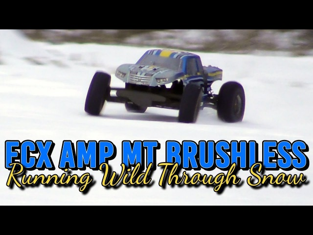 ECX AMP MT Brushless - Running Wild Through Snow