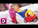 Куклы ЗАCТРЯЛИ В СНЕГУ Диана и Кукла Беби Бон спасают Друзей Baby Born Видео для Детей Игры Девочек