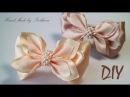 Бантики из репсовой и атласной ленты Канзаши Satin Grosgrain ribbon bow Laco de fita Curva