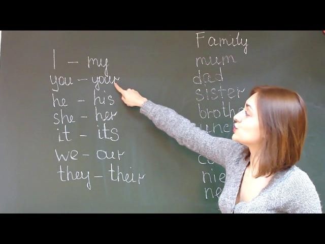 Possessive adjectives - притяжательные местоимения; family members - члены семьи