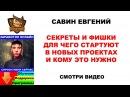 Евгений Савин - Секреты и фишки старта в новых проектах и кому это нужно