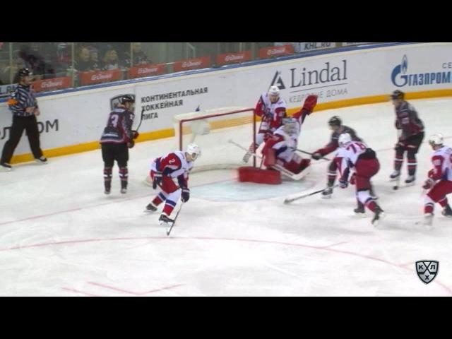 Моменты из матчей КХЛ сезона 16/17 • Авангард - Локомотив. Лучшие моменты матча 07.01